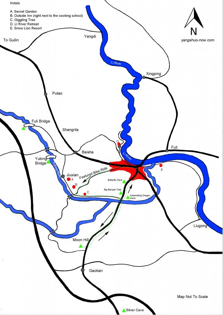 Yangshuo County Map